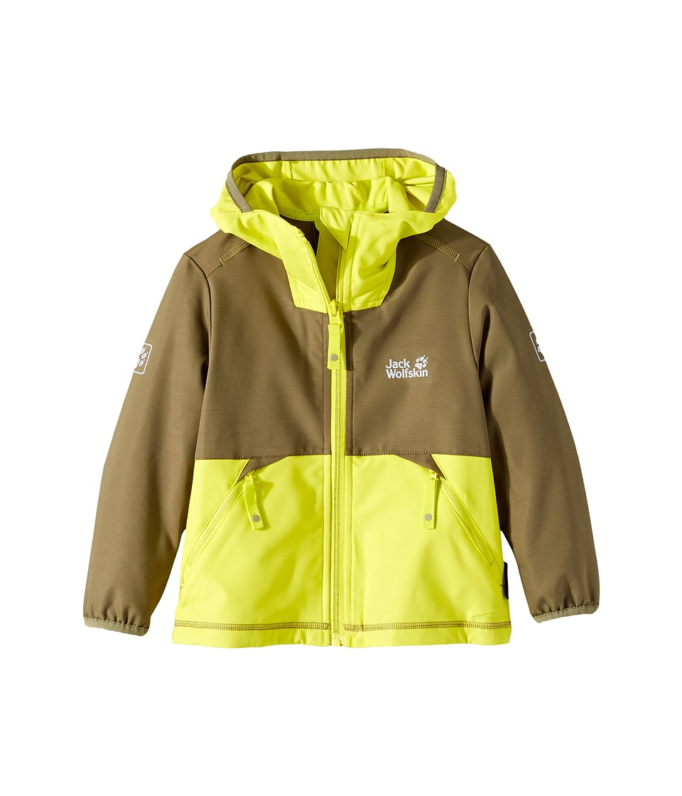 Jack Wolfskin Kids Turbulence Softshell Jacket (Little Kids/Big Kids) (Burnt Olive) Boy