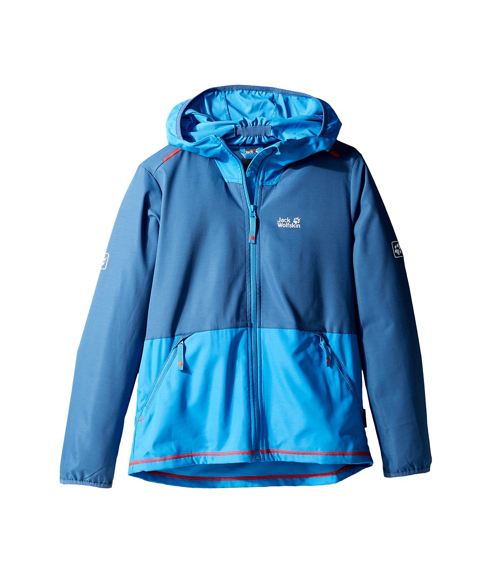 Jack Wolfskin Kids Turbulence Softshell Jacket (Little Kids/Big Kids) (Ocean Wave) Boy