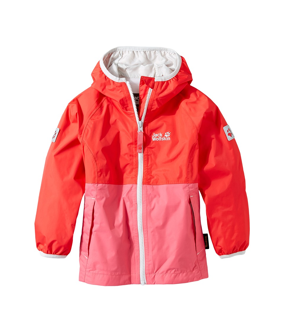 Jack Wolfskin Kids Rainy Days Rain Jacket (Infant/Toddler) (Hibiscus Red) Girl