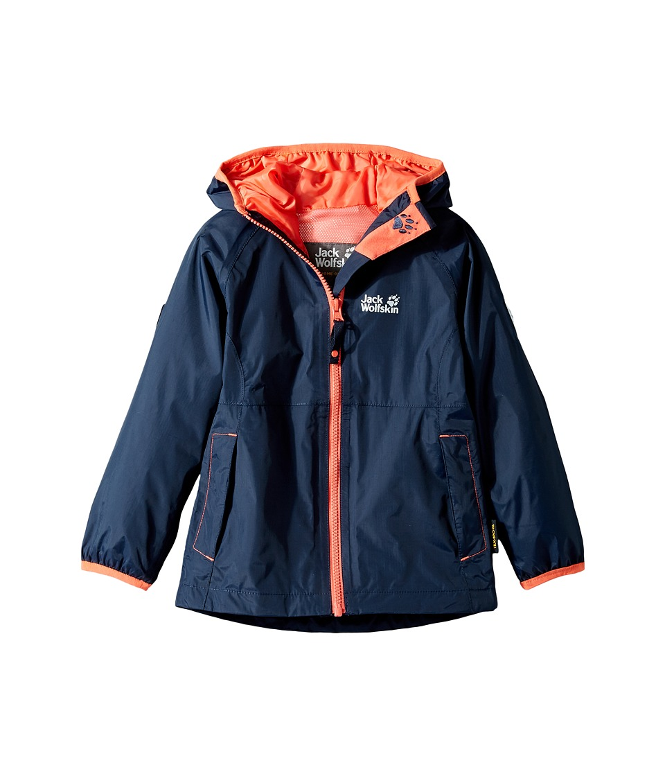 Jack Wolfskin Kids Rainy Days Rain Jacket (Infant/Toddler) (Midnight Blue) Girl