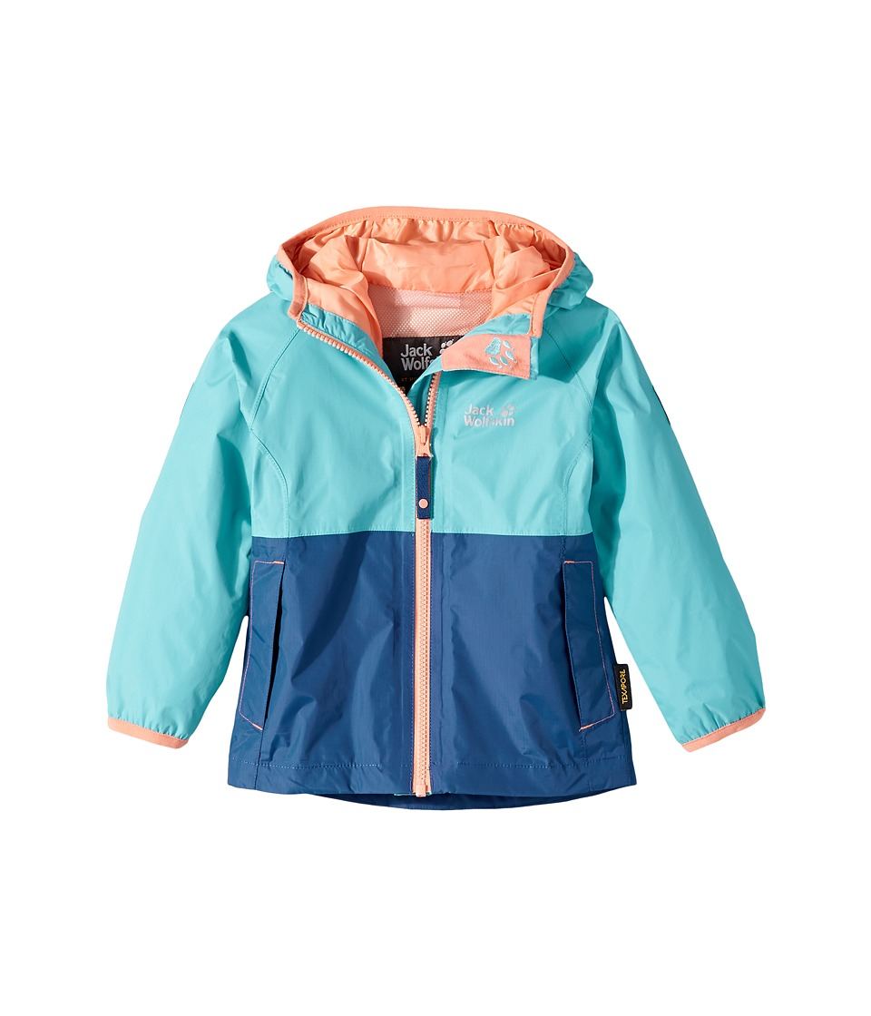 Jack Wolfskin Kids Rainy Days Rain Jacket (Infant/Toddler) (Lake Blue) Girl