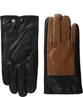 COACH - Color Block Nappa Leather Gloves