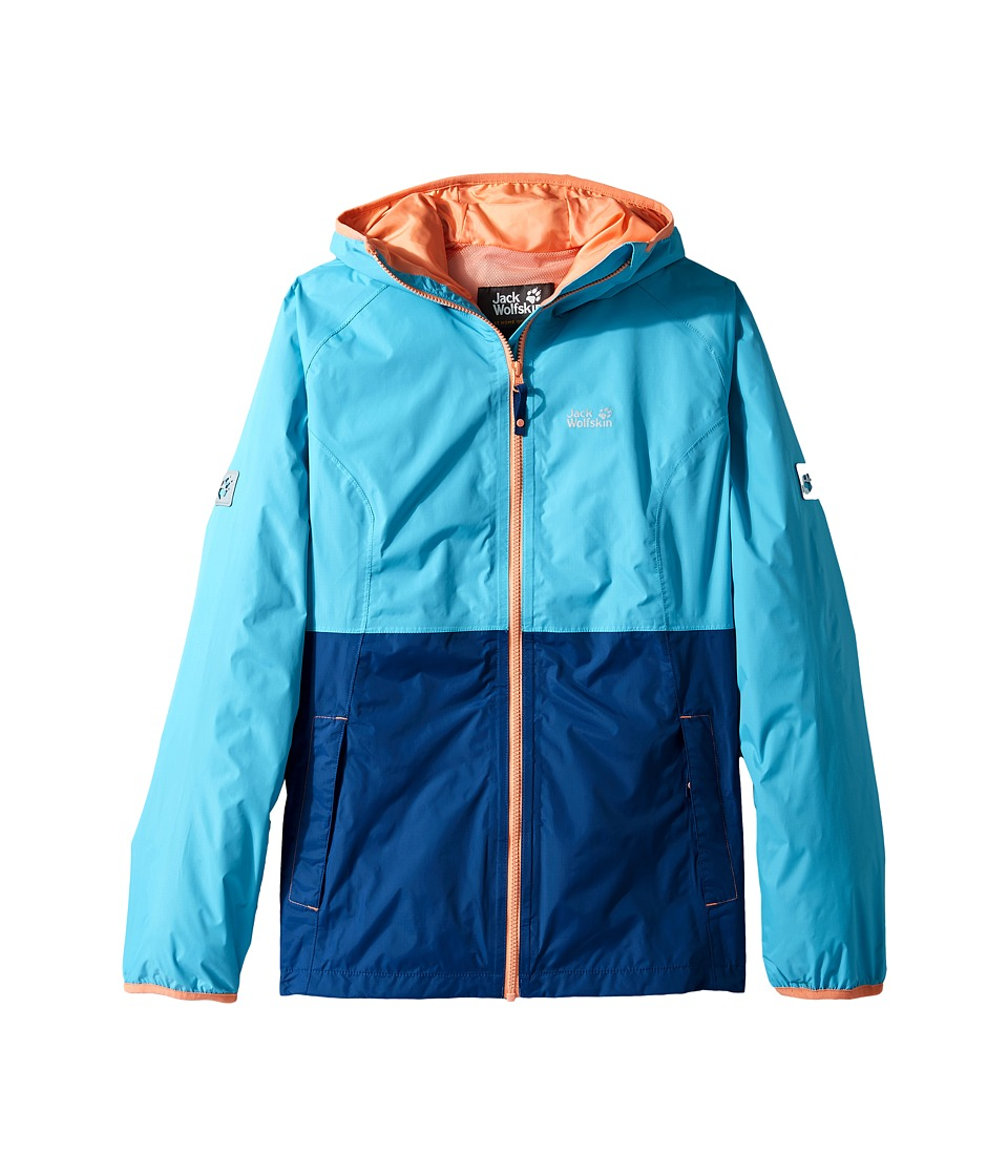 Jack Wolfskin Kids Rainy Days Rain Jacket (Little Kids/Big Kids) (Lake Blue) Girl