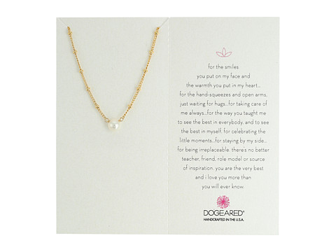 Dogeared Inspiration Pearl on Sparkle Chain Necklace