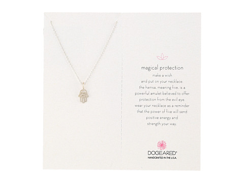 Dogeared Magical Protection Open Hamsa Pendant Necklace - Sterling Silver