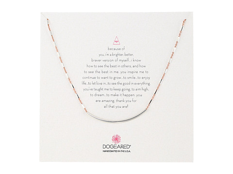 Dogeared Balance Tube on Sparkle Chain Necklace