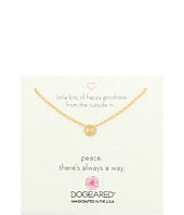 Dogeared - Little Bits of Happy Mini Peace Sign Soldered Necklace