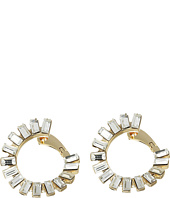 Vince Camuto - Baguette Cross Over Earrings