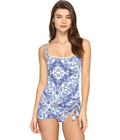 Bleu Rod Beattie - Driving Miss Paisley Skirted Tank Mio One-Piece