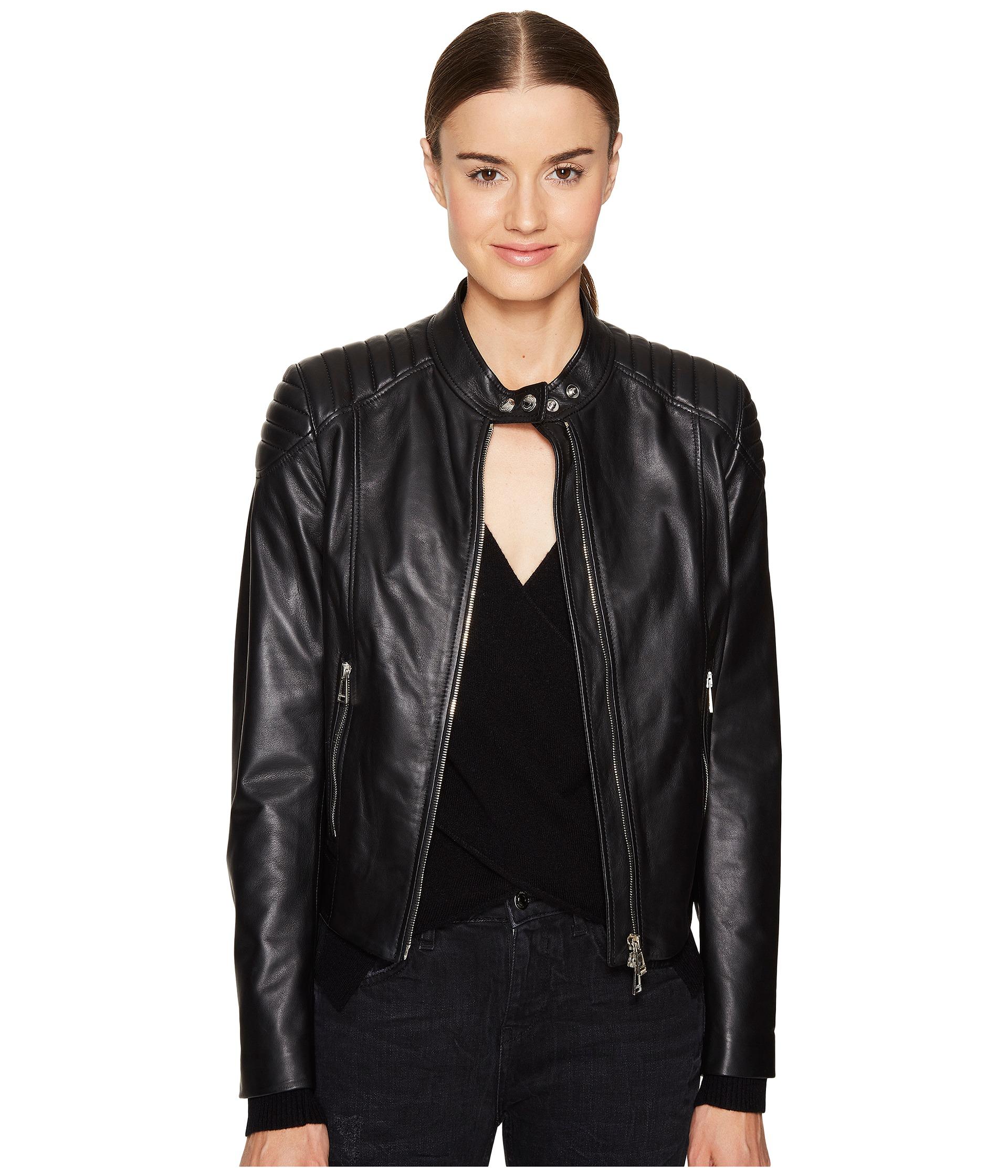 Leather jacket sale - Belstaff Mollison Luxe Lightweight Napa Leather Jacket