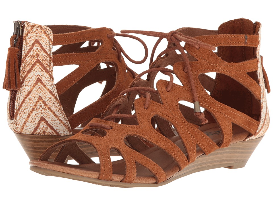 Minnetonka - Merida III (Brown Suede/Brown Kasbah Fabric) Womens Sandals