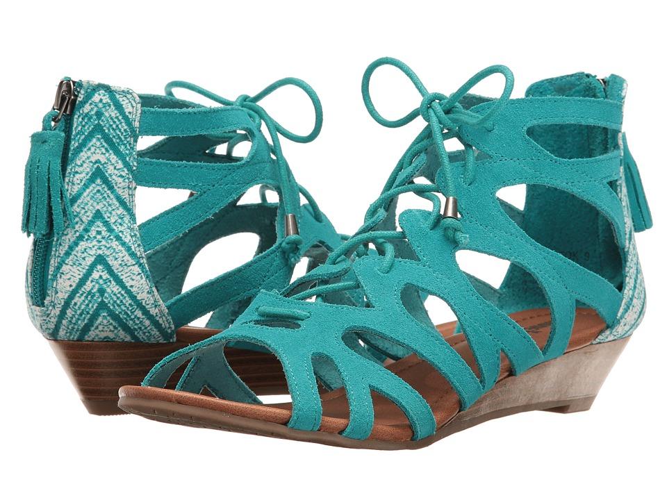 Minnetonka Merida III (Turquoise Suede/Turquoise Kasbah Fabric) Women