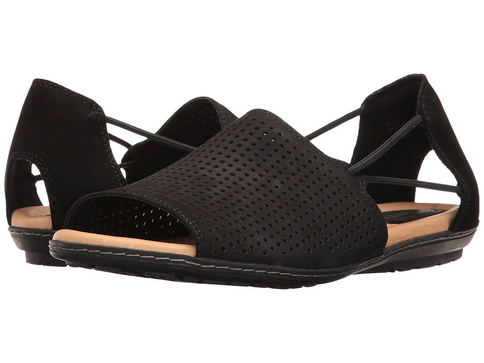 Earth Shelly (Black Soft Buck) Women's Shoes