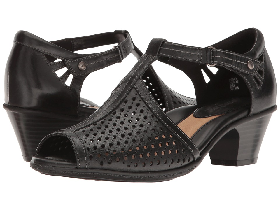 Earth Pavo (Black Soft Leather) Women