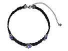 Rebecca Minkoff - Rock N Roll Charms on Braided Leather Choker Necklace