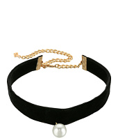Rebecca Minkoff - Velvet Choker with Pearl Charm Necklace