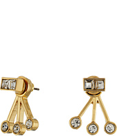 Rebecca Minkoff - Stone Fan Back Ear Jacket Earrings
