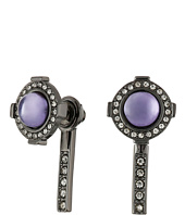 Rebecca Minkoff - Halo Stud Front with Linear Stick Back Earrings