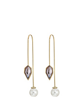 Rebecca Minkoff - Stone Mix Hardwire Threader Earrings