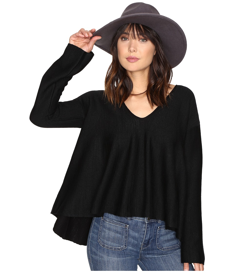 Free People Sundae Pullover Sweater (Black) Women