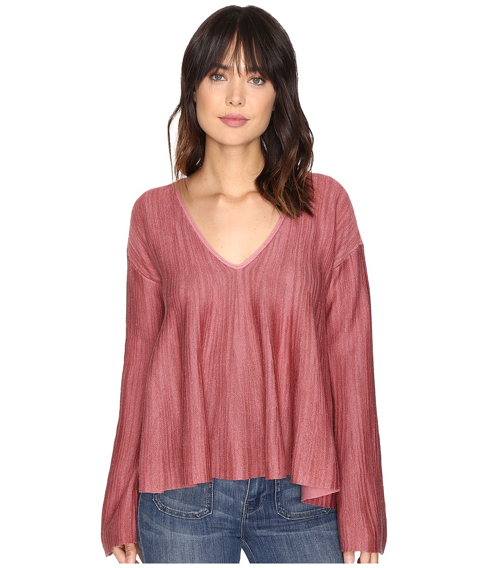 Free People Sundae Pullover Sweater (Rose) Women