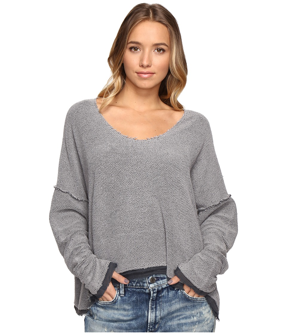 Free People Loop Dolman Pullover Sweater (Dark Grey) Women