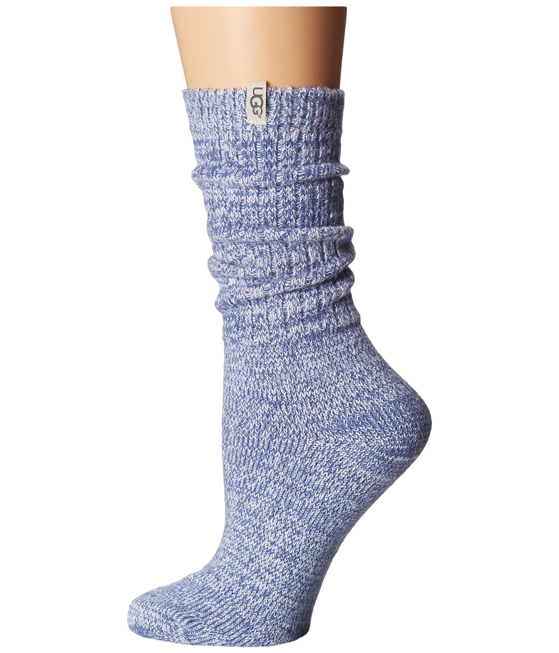Slouch Socks Knitting Pattern : UGG Rib Knit Slouchy Crew Socks at Zappos.com