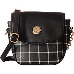 Tommy Hilfiger Saddle Item II Bag (Black/White)