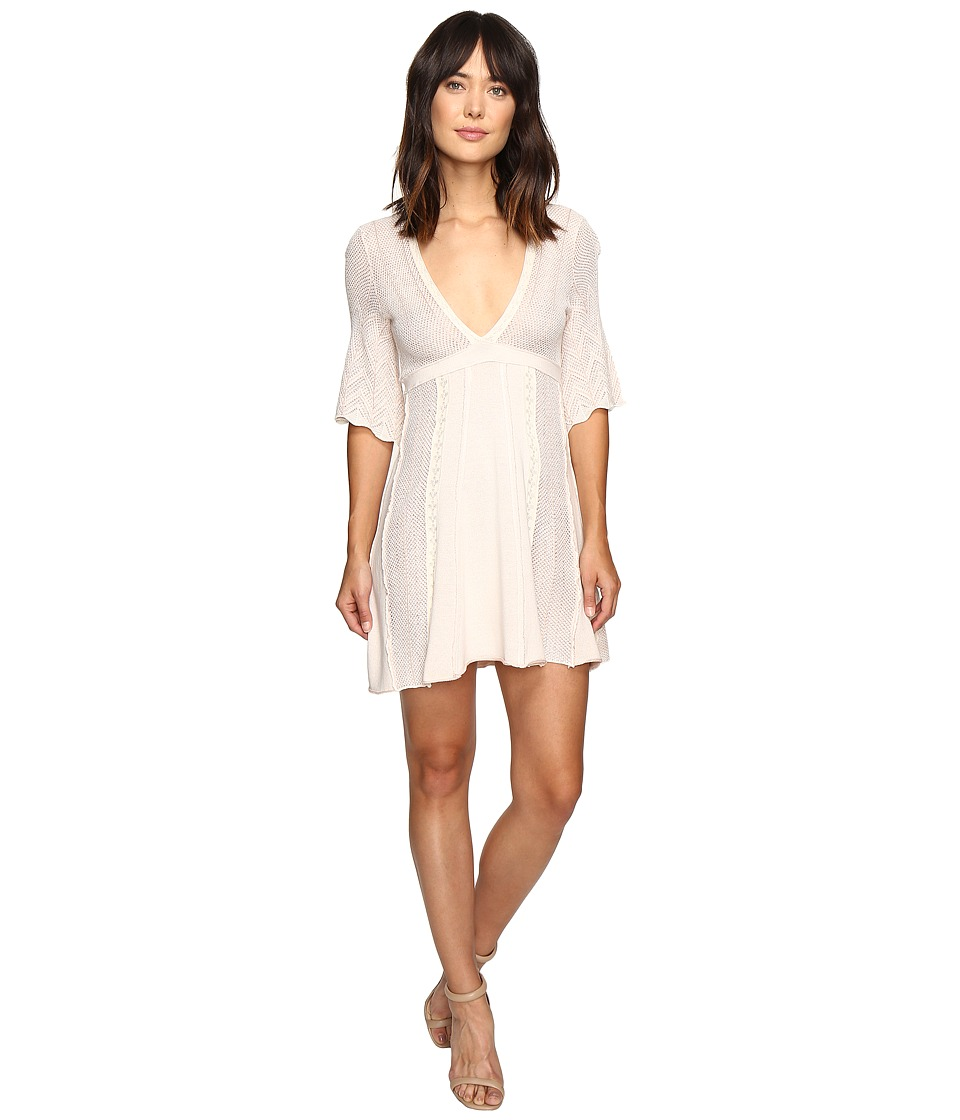 Free People Find Your Love Sweater Dress (Ivory) Women