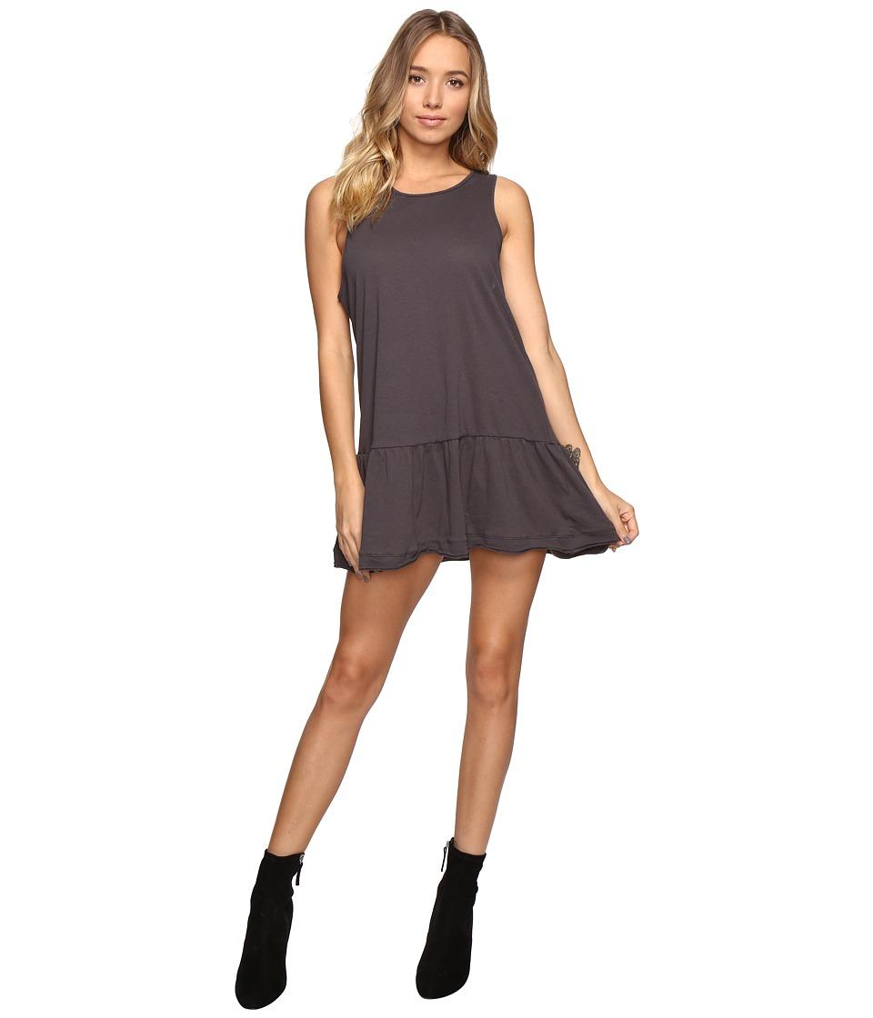 Free People Brittany Peplum Dress (Black) Women