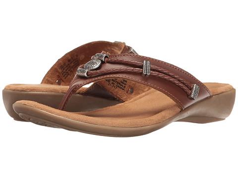 Minnetonka Silverthorne Thong - Whiskey Leather