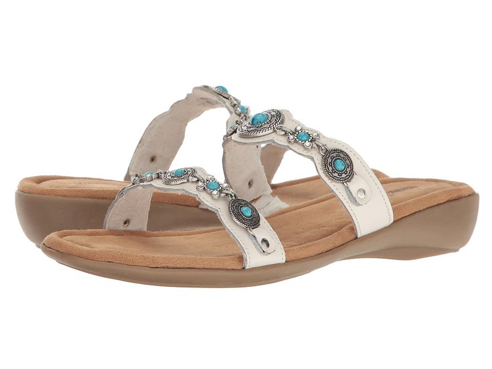 Minnetonka Boca Slide III (White Leather) Women's Sandals