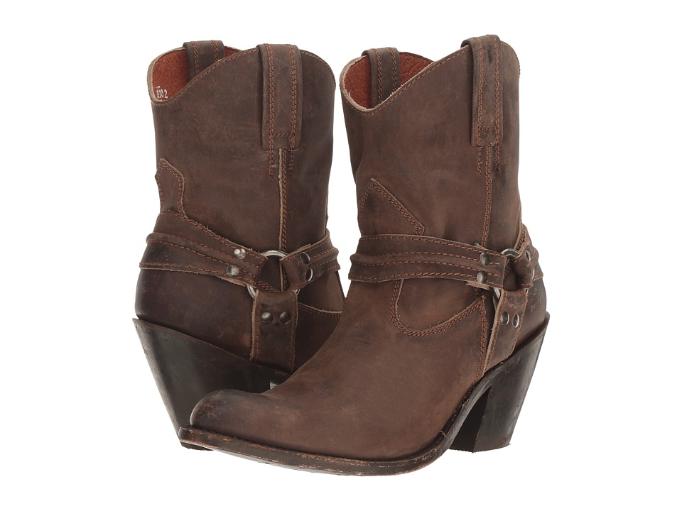 Dan Post Charlotte (Brown Zip Round Toe) Cowboy Boots