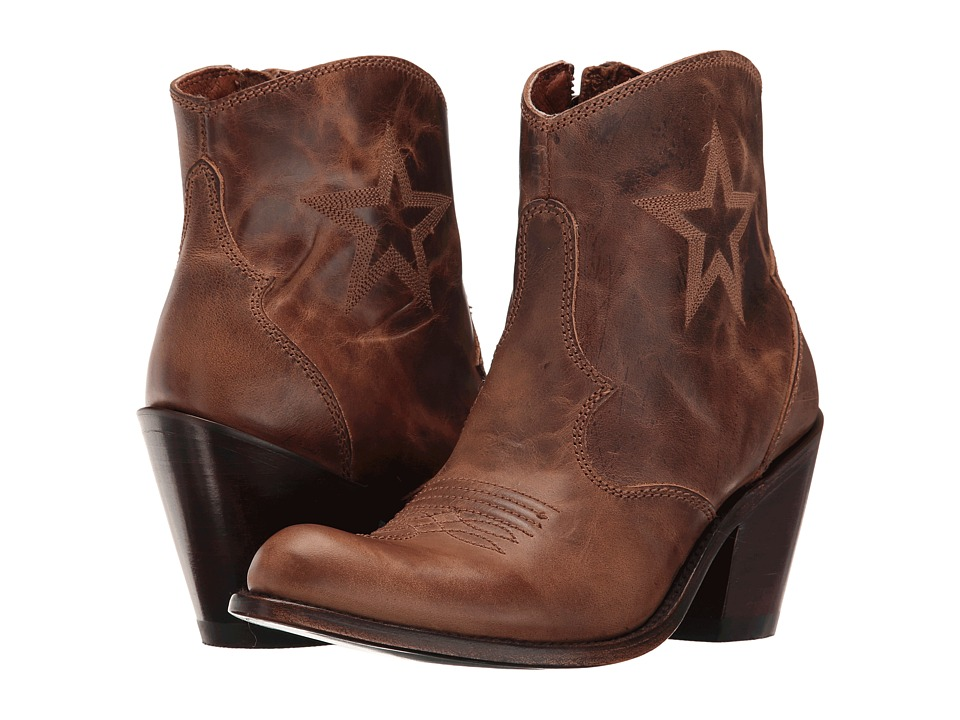 Dan Post Kayla (Tan Savage Round Toe) Cowboy Boots