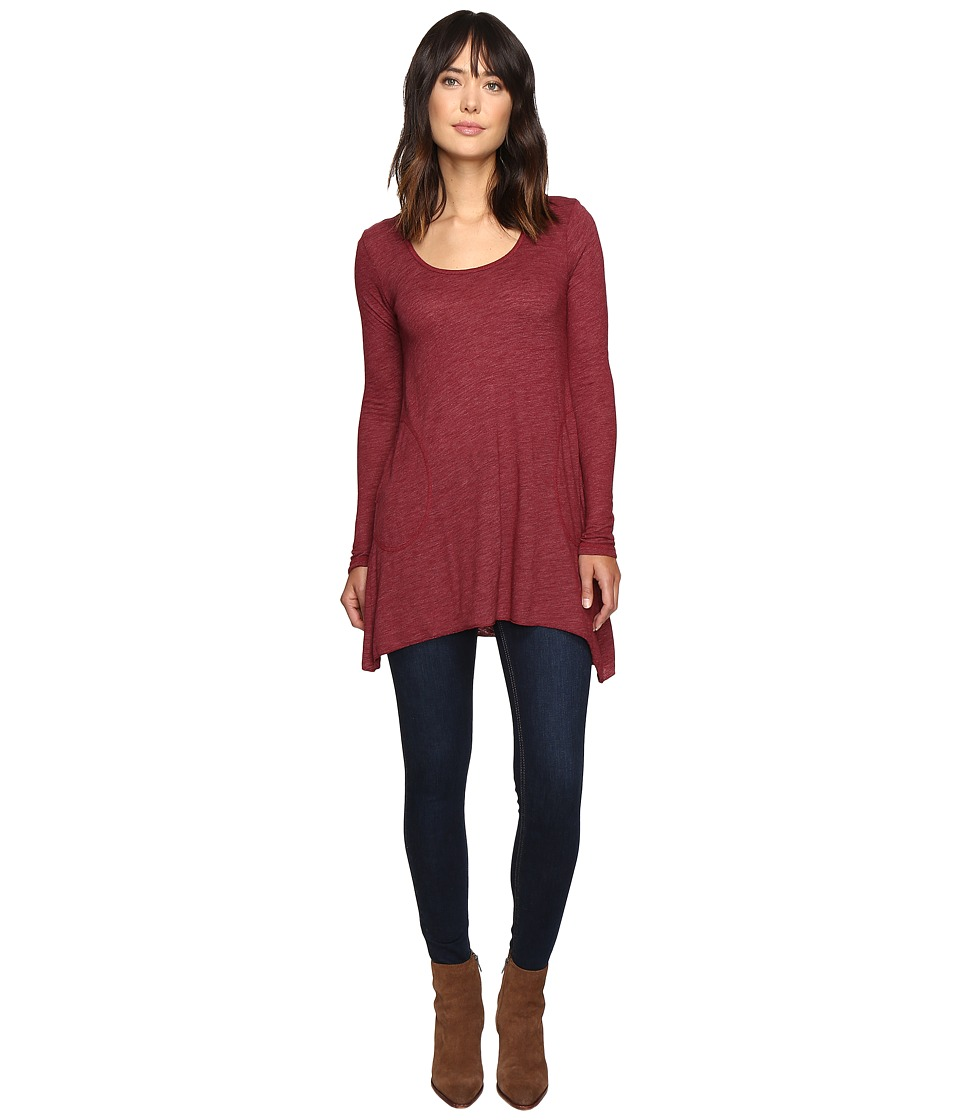 Allen Allen L/S Angled 2-Pocket Scoop Tunic (Rumba) Women