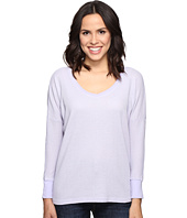 Allen Allen - Long Sleeve Drop Shoulder High-Low V-Neck