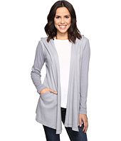 Allen Allen - Long Sleeve Hooded Open Cardigan