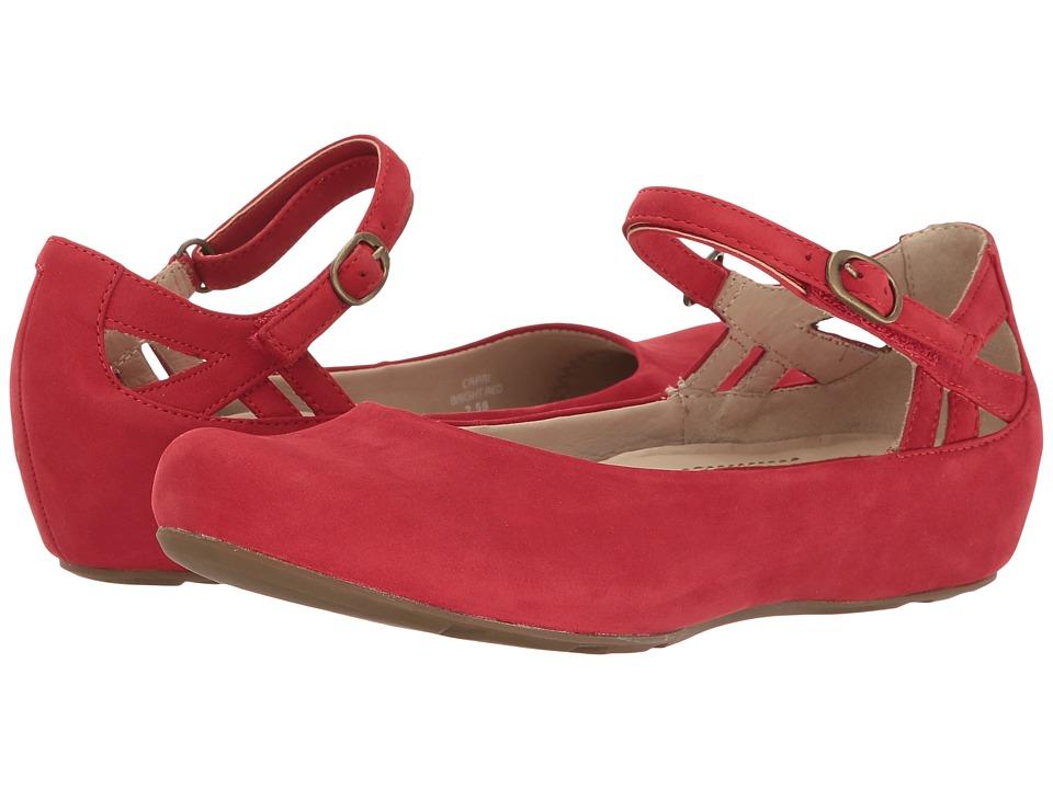 Earth Capri Earthies (Bright Red Soft Buck) Women