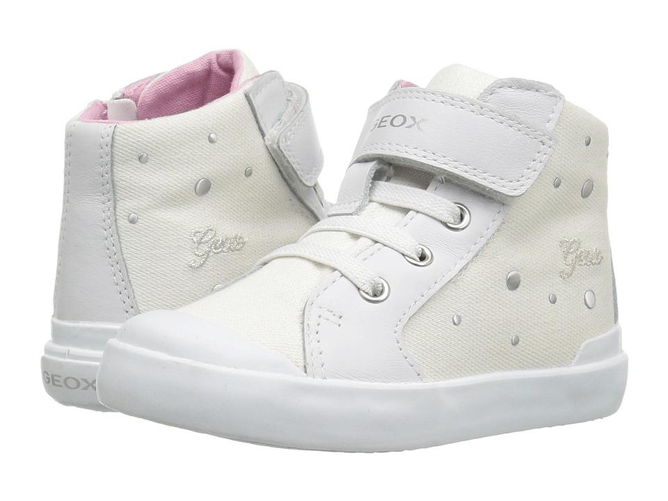 Geox Kids Jr Kiwi Girl 87 (Toddler) (White) Girl