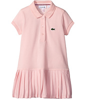 Lacoste Kids - Short Sleeve Pique Polo Dress with Pleated Bottom (Little Kids/Big Kids)