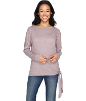 Allen Allen - Long Sleeve Drop Shoulder Side-Tie Top