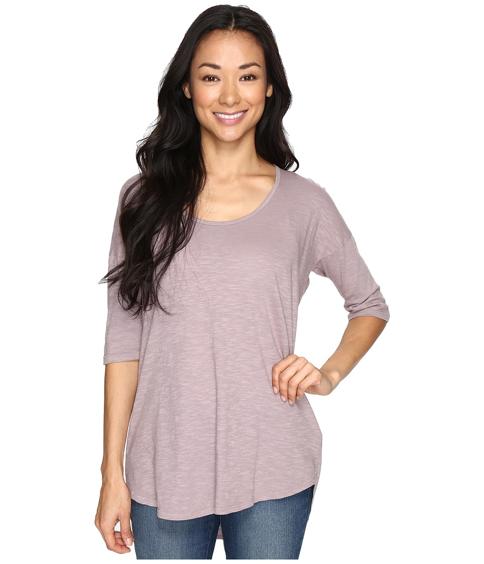 Allen Allen Slub Elbow Sleeve Tee (Earth) Women