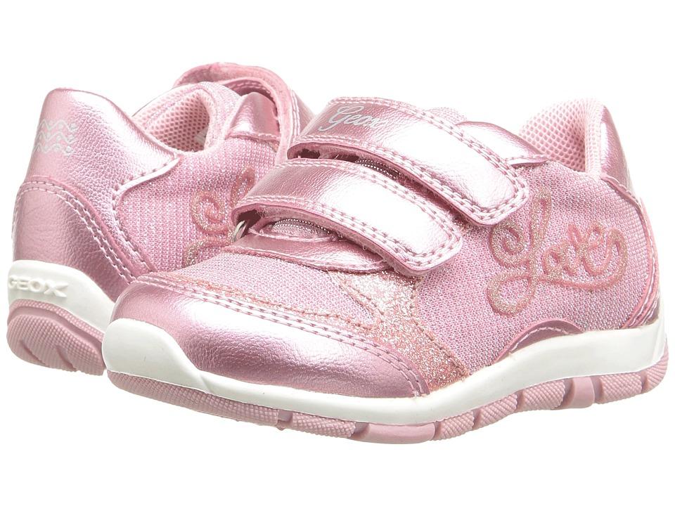 Geox Kids Jr Shaax Girl 15 (Toddler) (Pink) Girl