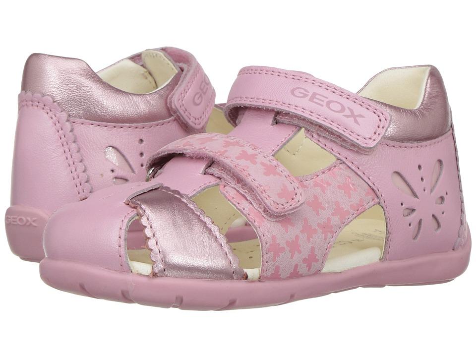 Geox Kids Jr Kaytan Girl 30 (Infant/Toddler) (Light Pink) Girl