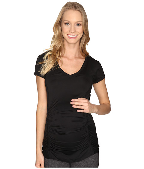 Beyond Yoga V-Neck Maternity Tee - Black