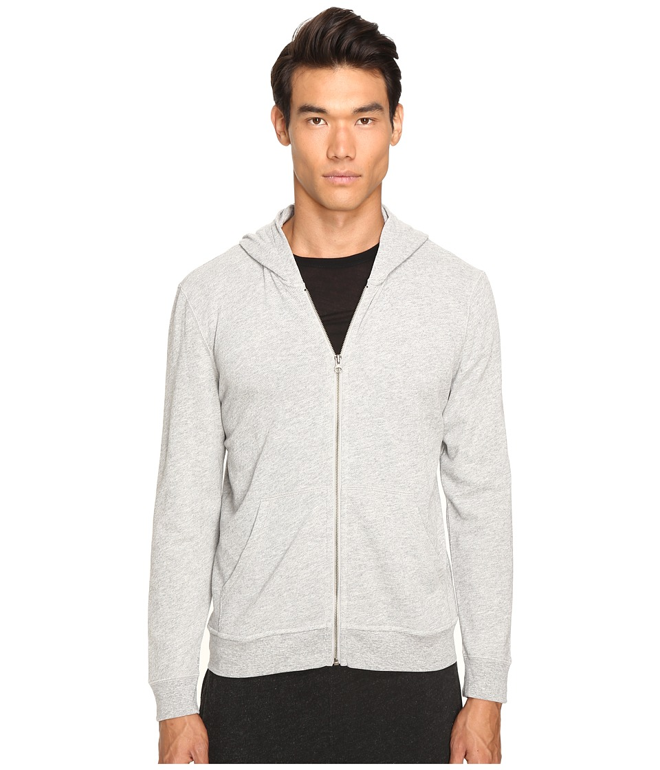 ATM Anthony Thomas Melillo French Terry Zip Hoodie (Heather Grey 2) Men
