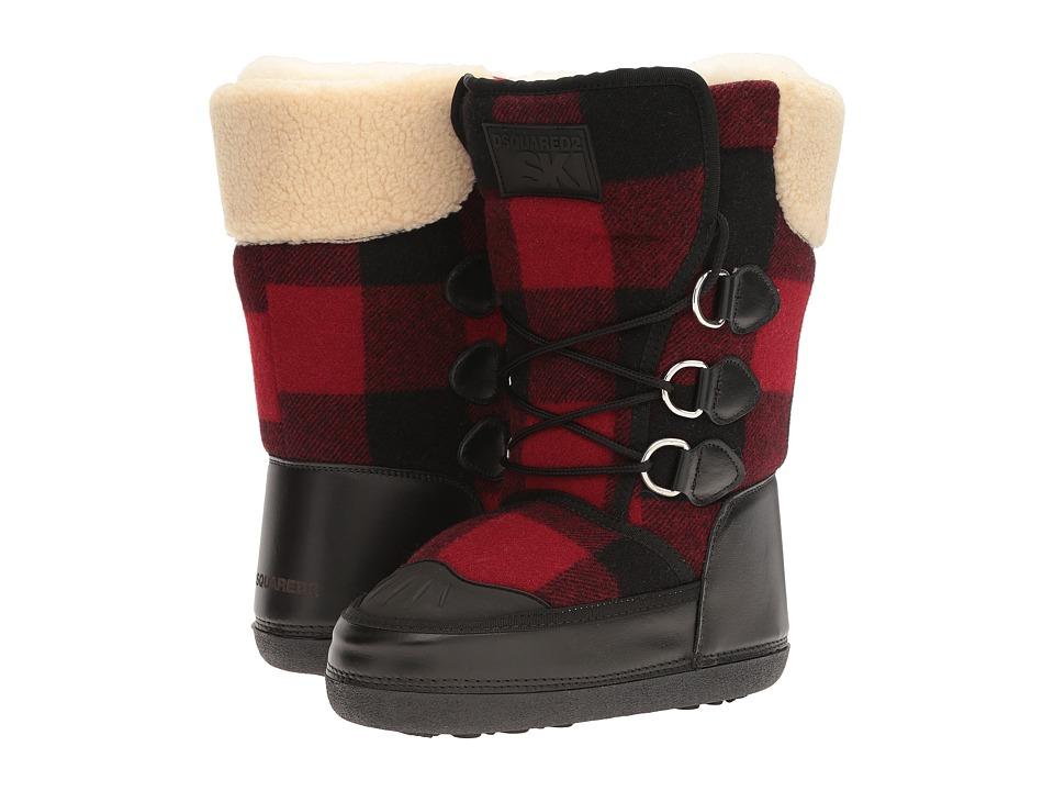 DSQUARED2 Snow Boot (Nero/Rosso) Women