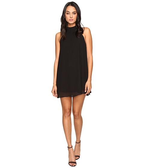 Show Me Your Mumu V-Right Back Mini Dress - Black Chiffon