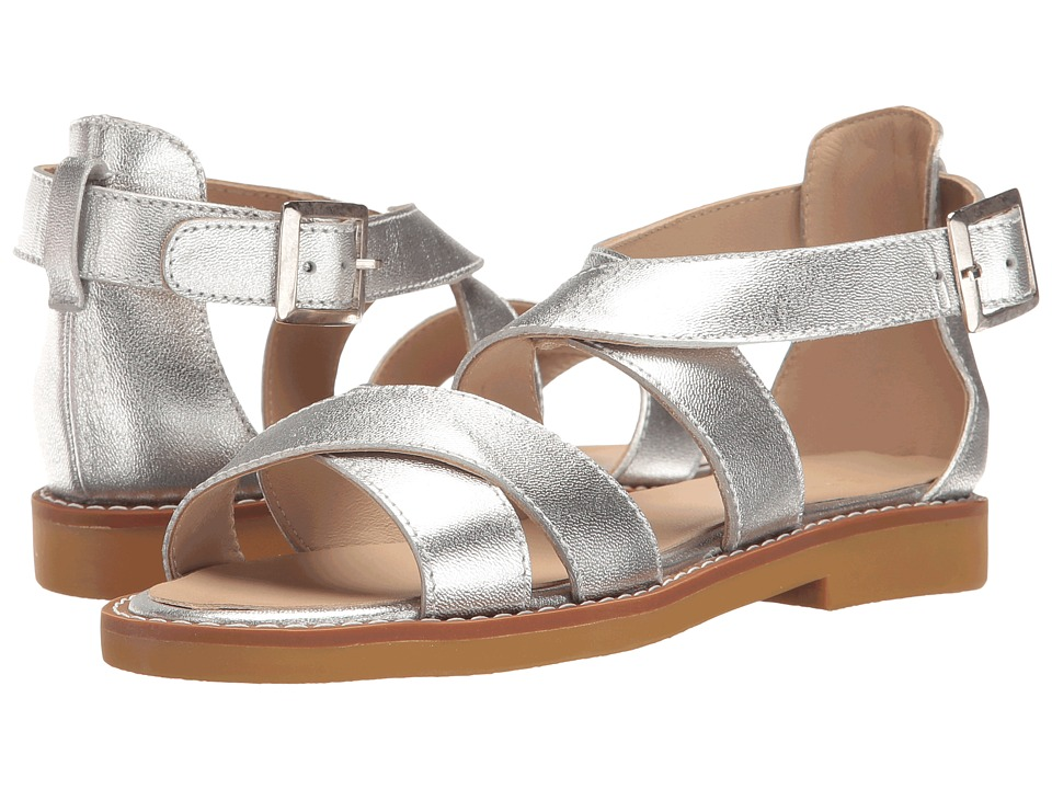 Elephantito Cecil Crossed Sandal (Toddler/Little Kid/Big Kid) (Silver) Girls Shoes