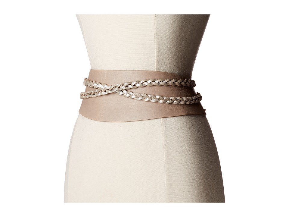 Image of ADA Collection - Dakota Belt (Taupe/Silver) Women's Belts